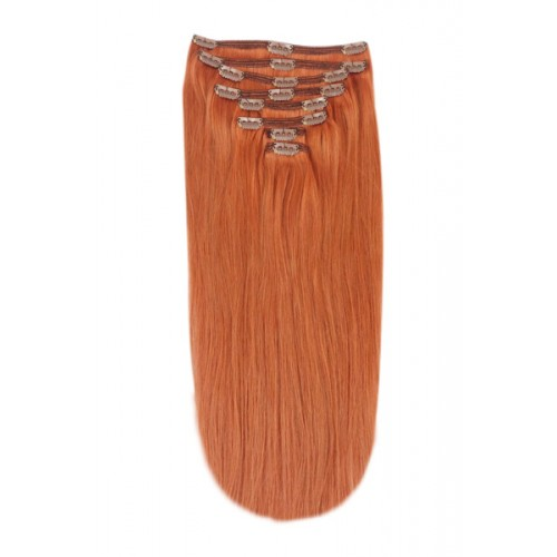 Коса Remy Deluxe цвят 350 Ginger/Natural Red 62 см на клипси
