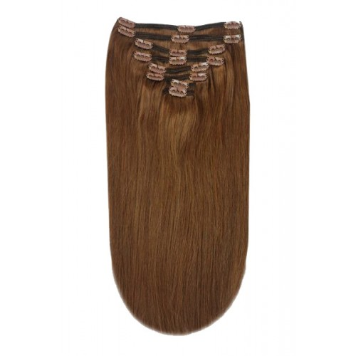 Кралска Коса Remy Deluxe, цвят 5 Toffee Brown, 62 см, 210 гр, на клипси